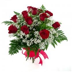 Una docena de rosas rojas